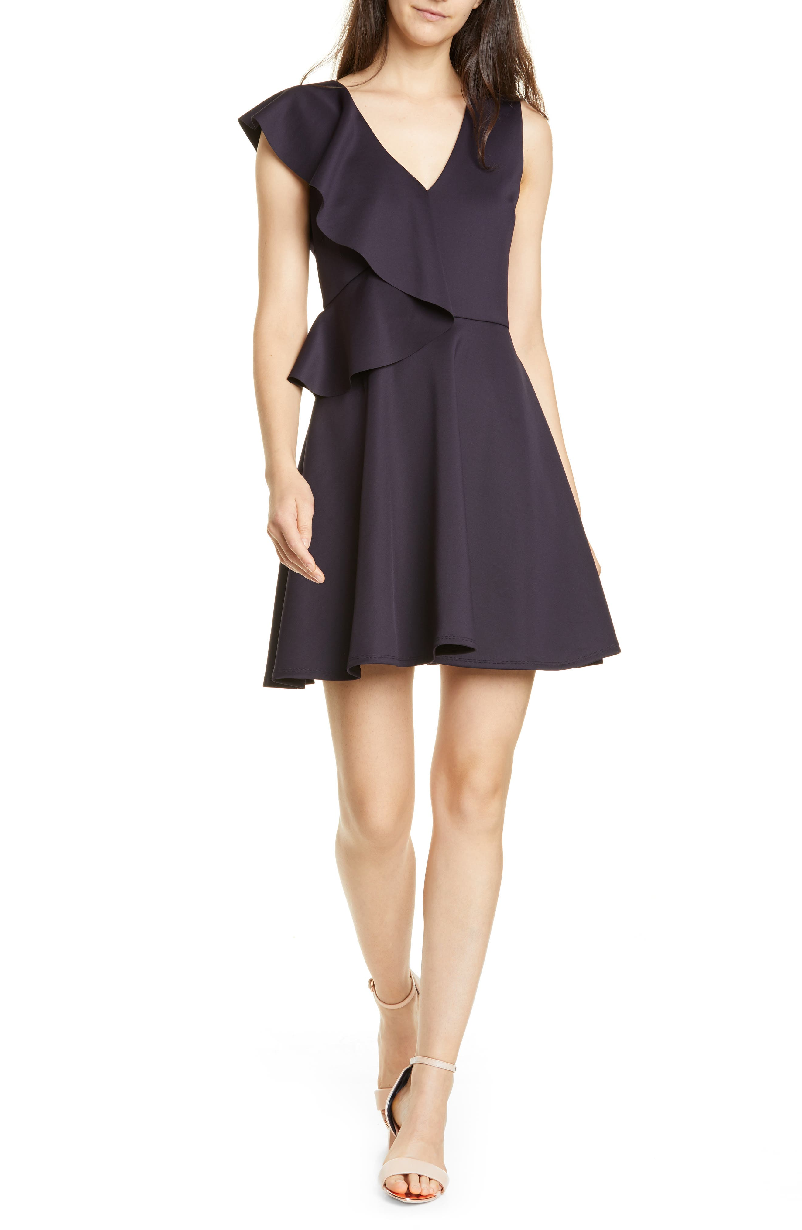 Ted Baker London Lantaa Ruffle Skater Dress, Blue