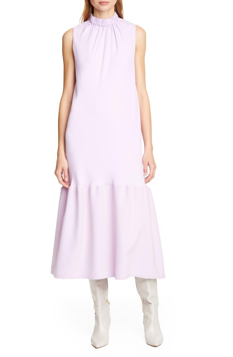 TIBI Modern Drape Sculpted Drape Midi Dress, Main, color, 516