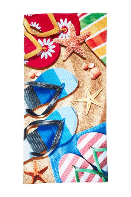 Image of Apollo Towels Sandals Beach Towel - Green
