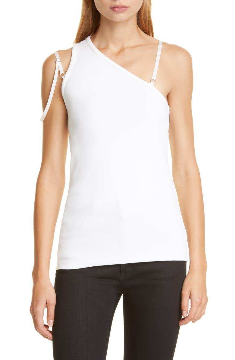 HELMUT LANG Femme One-Shoulder Top, Main, color, CHALK/ WHITE