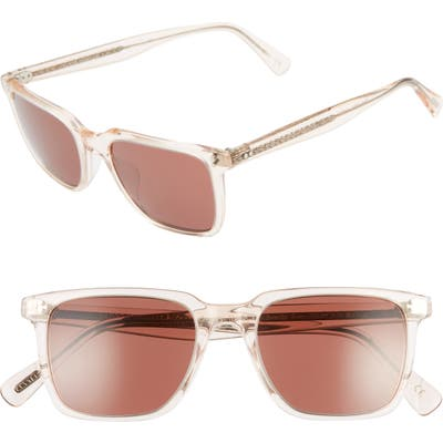 Oliver Peoples Lachman 50Mm Rectangle Sunglasses - Light Silk/ Rosewood
