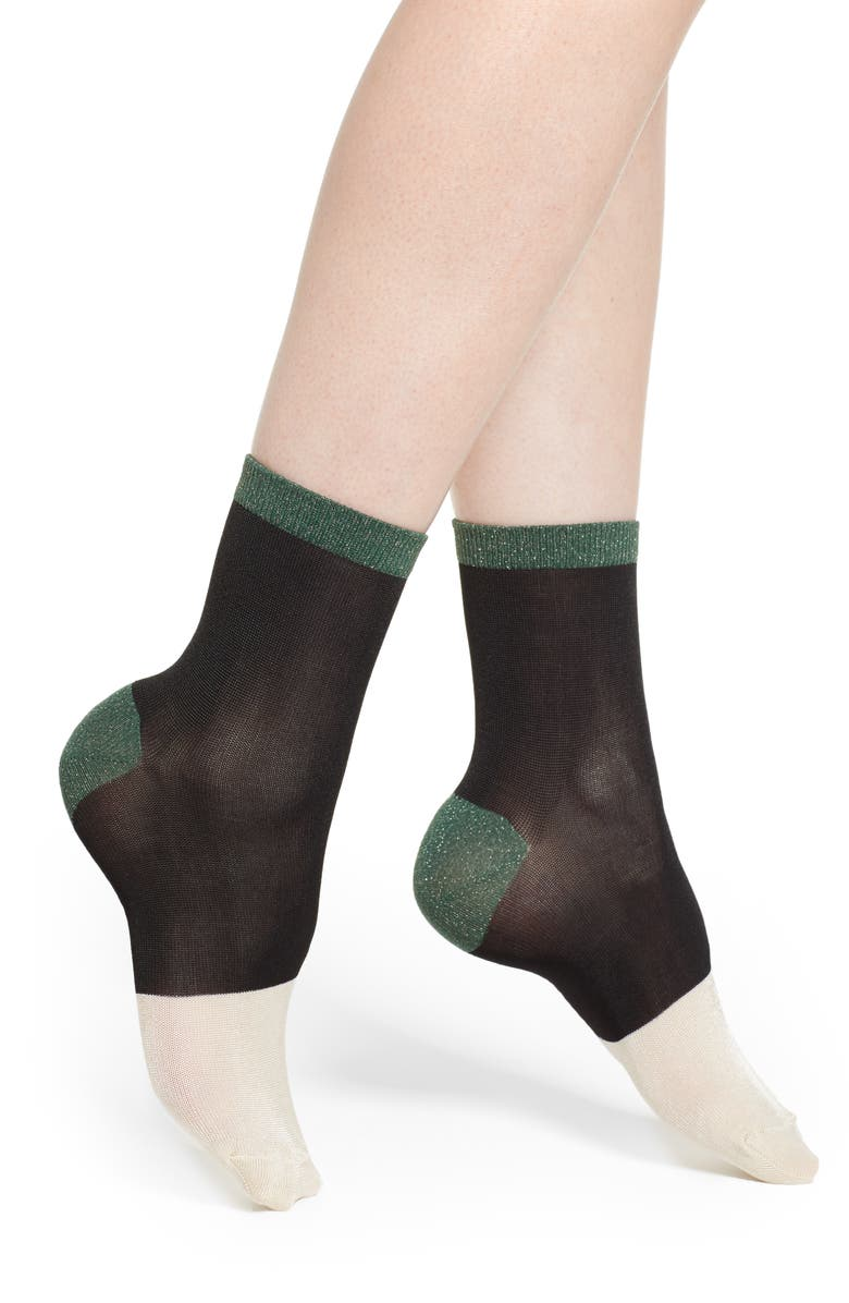 HYSTERIA BY HAPPY SOCKS Liza Colorblock Socks, Main, color, 002