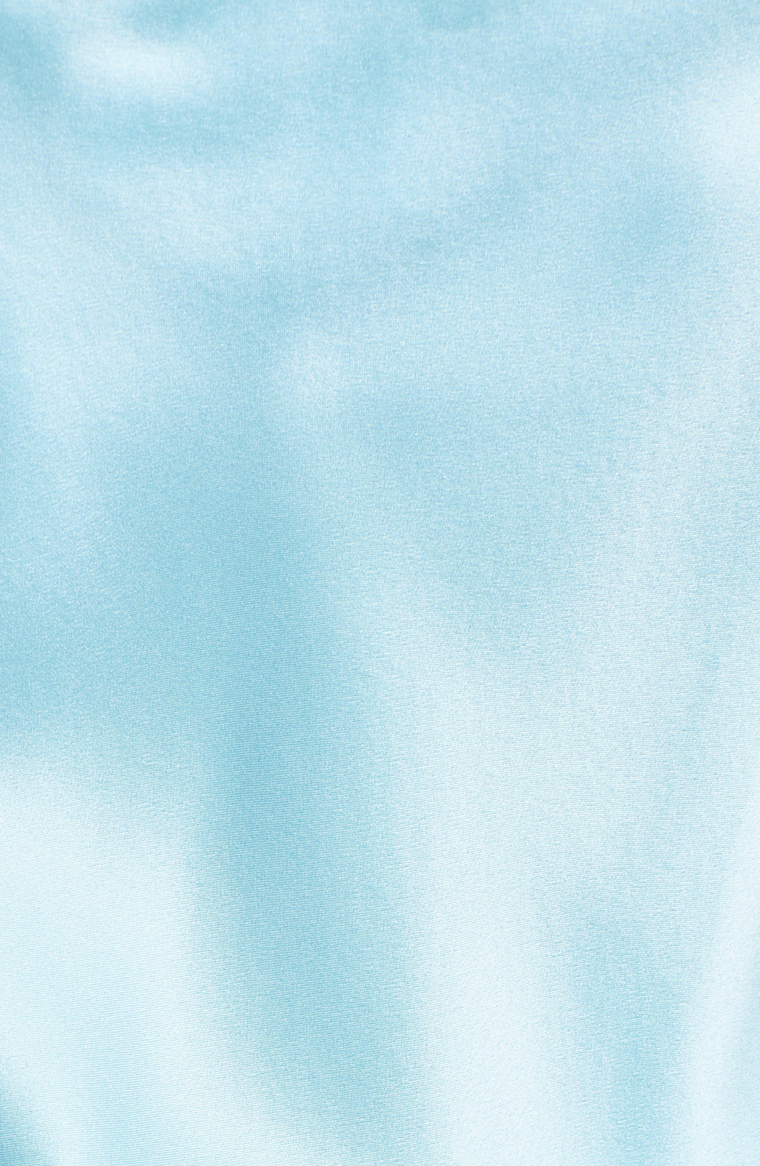 ,                             Astrid Ruched Silk Satin Slipdress,                             Alternate thumbnail 5, color,                             BLUE TOPAZ