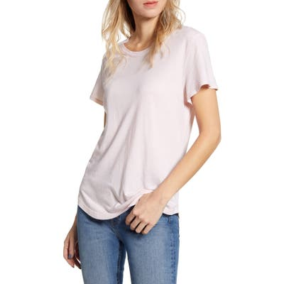 Splendid Abbie Crewneck Cotton Blend Tee, Pink