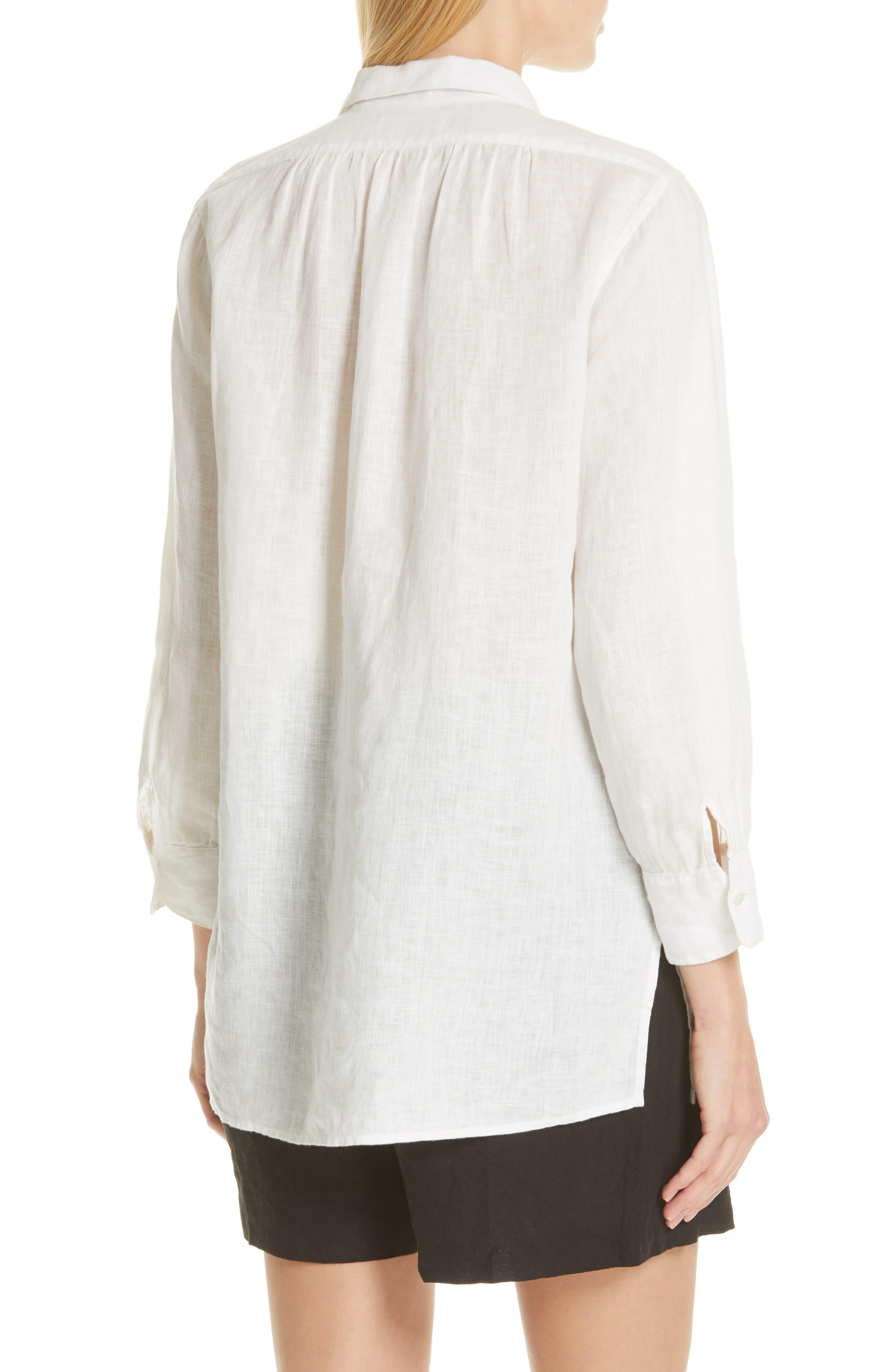 ,                             Emma Linen Shirt,                             Alternate thumbnail 2, color,                             NATURAL