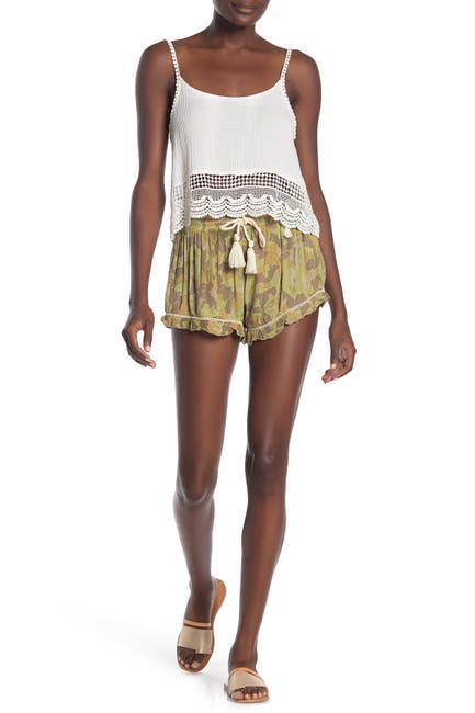 Image of Z&L Europe Drawstring Camo Print Shorts