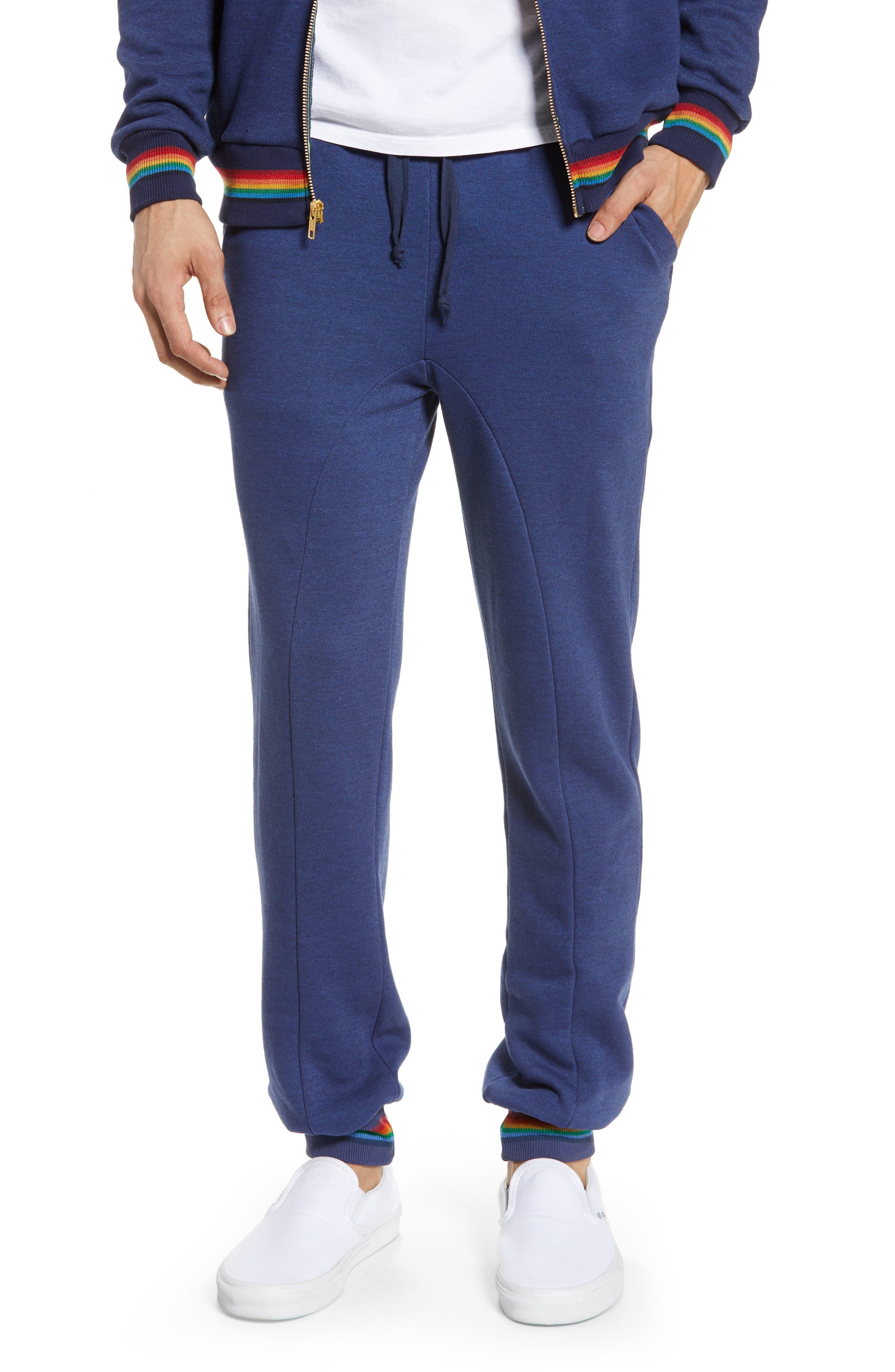 Aviator Nation Prism Slim Fit Sweatpants, Blue