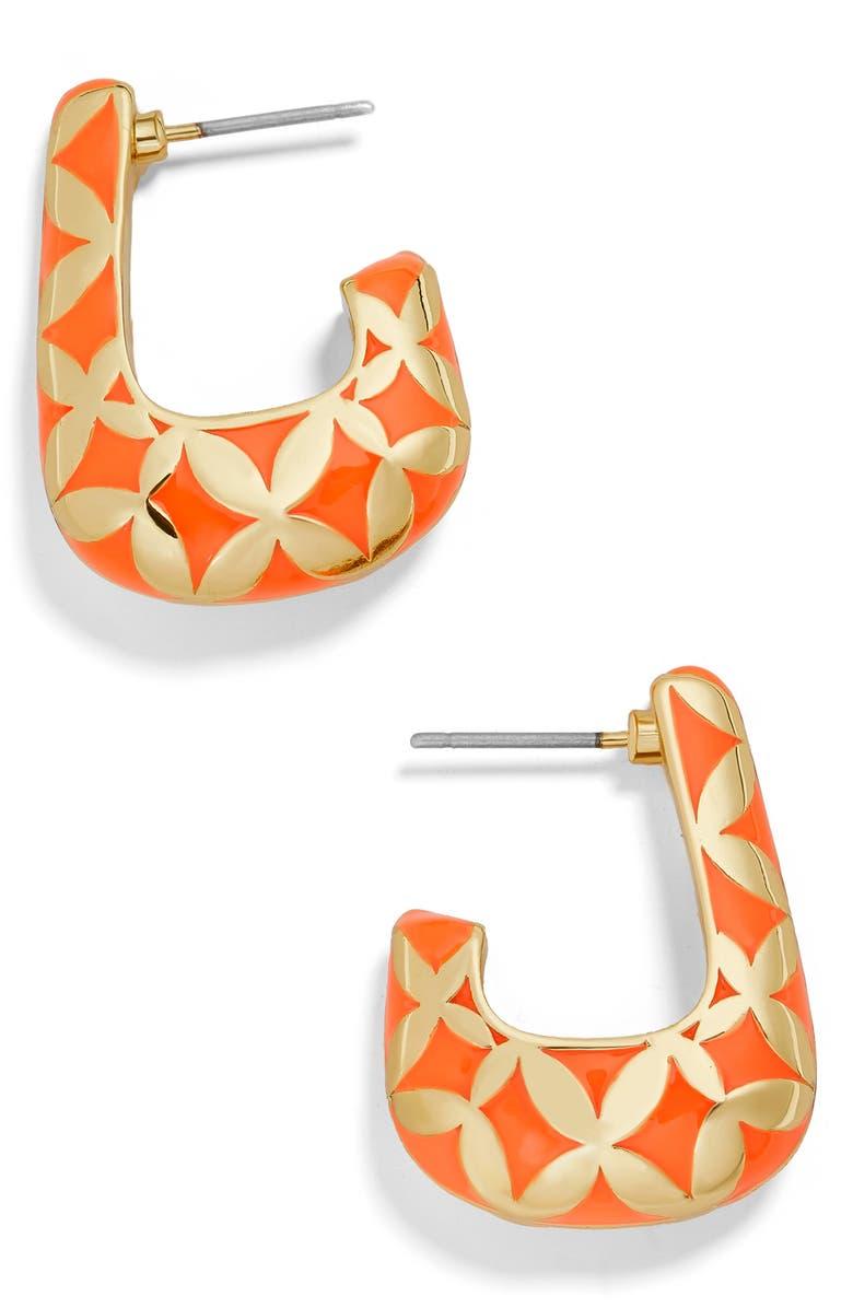 BaubleBar Varinia Boxy Hoop Earrings