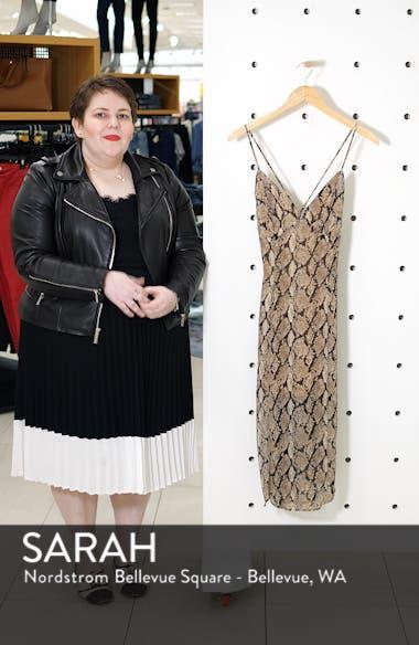 Python Print Crossback Strap Dress, sales video thumbnail