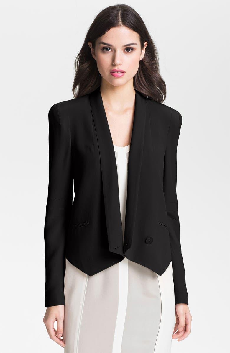 REBECCA MINKOFF 'Becky' Silk Jacket, Main, color, 001