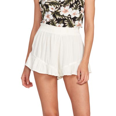 Volcom X Coco Ho Smocked Shorts, White