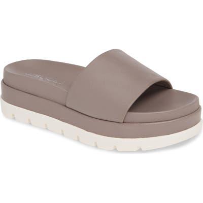 Jslides Bibi Platform Sandal- Grey