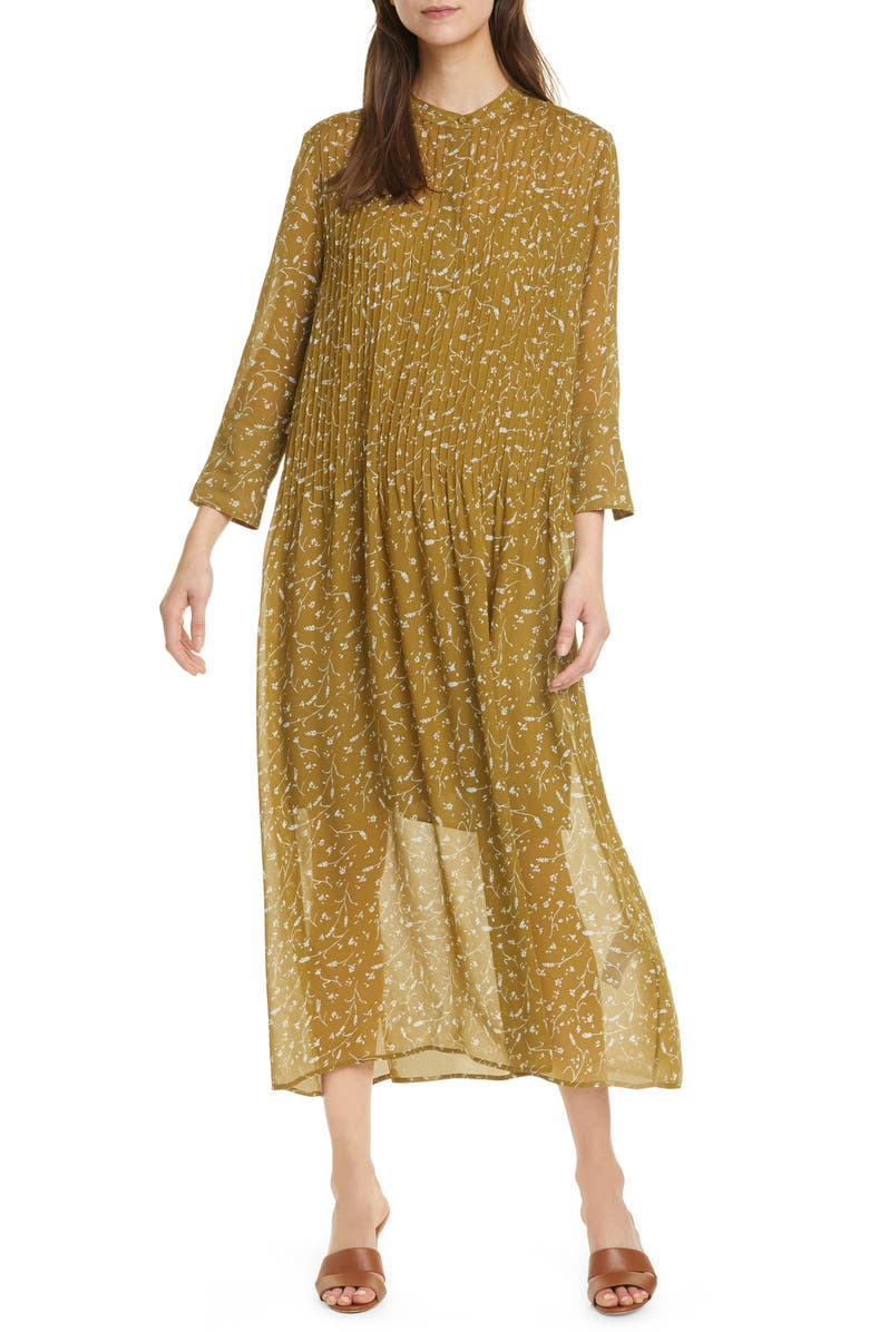 SAMSØE SAMSØE Elm Long Sleeve Midi Dress, Main, color, 250