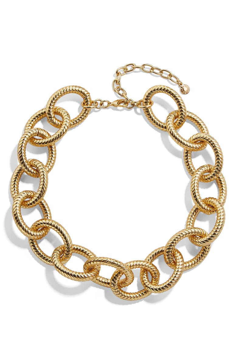 BAUBLEBAR Alexa Large Link Collar Necklace, Main, color, 710