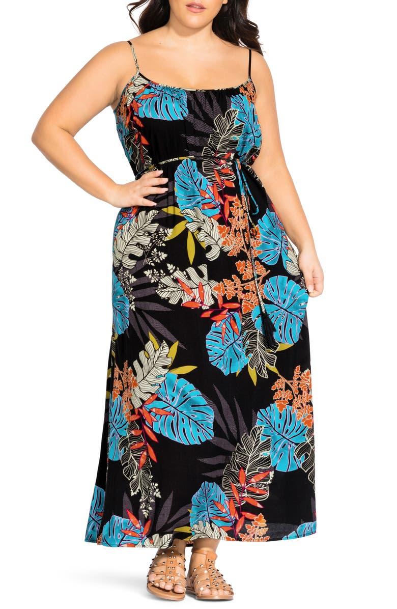 CITY CHIC Tahiti Maxi Dress, Main, color, TAHITI