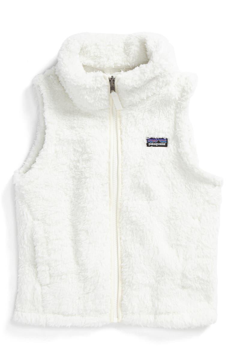 PATAGONIA Los Gatos Fuzzy Fleece Vest, Main, color, BIRCH WHITE