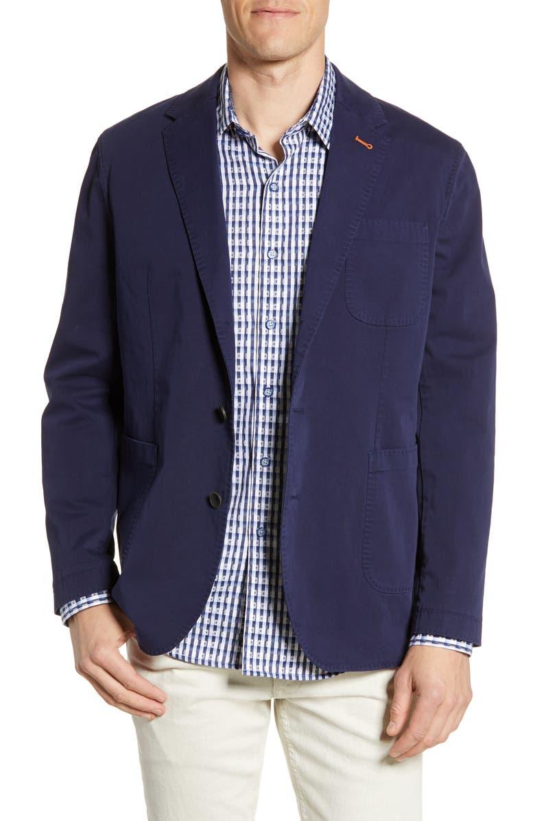 ROBERT GRAHAM Cape South Regular Fit Sport Coat, Main, color, NAVY