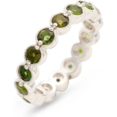Bony Levy Green Tourmaline Bezel Set Eternity Ring (Nordstrom Exclusive)