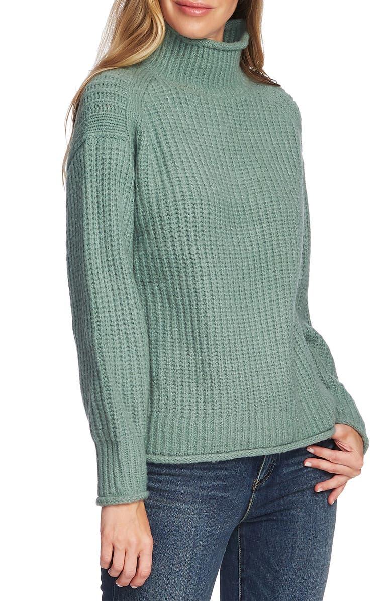 VINCE CAMUTO Mock Neck Sweater, Main, color, EUCALYPTUS