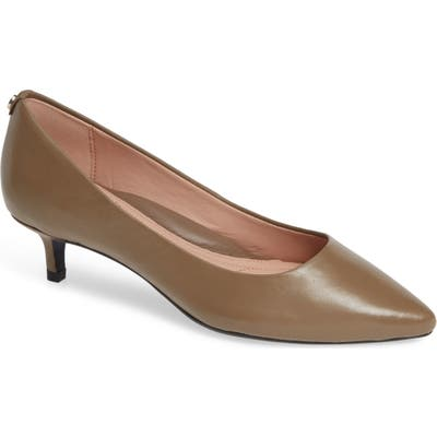 Taryn Rose Naomi Weatherproof Pump, Brown