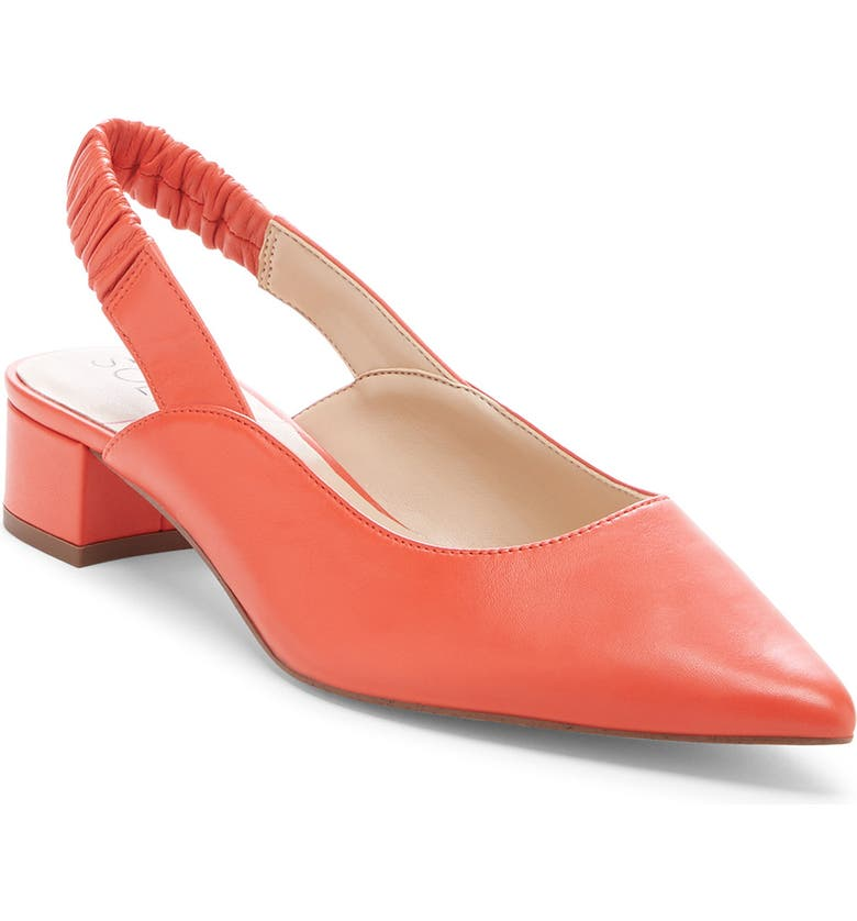 SOLE SOCIETY Meranne Slingback Pump, Main, color, CORAL LEATHER