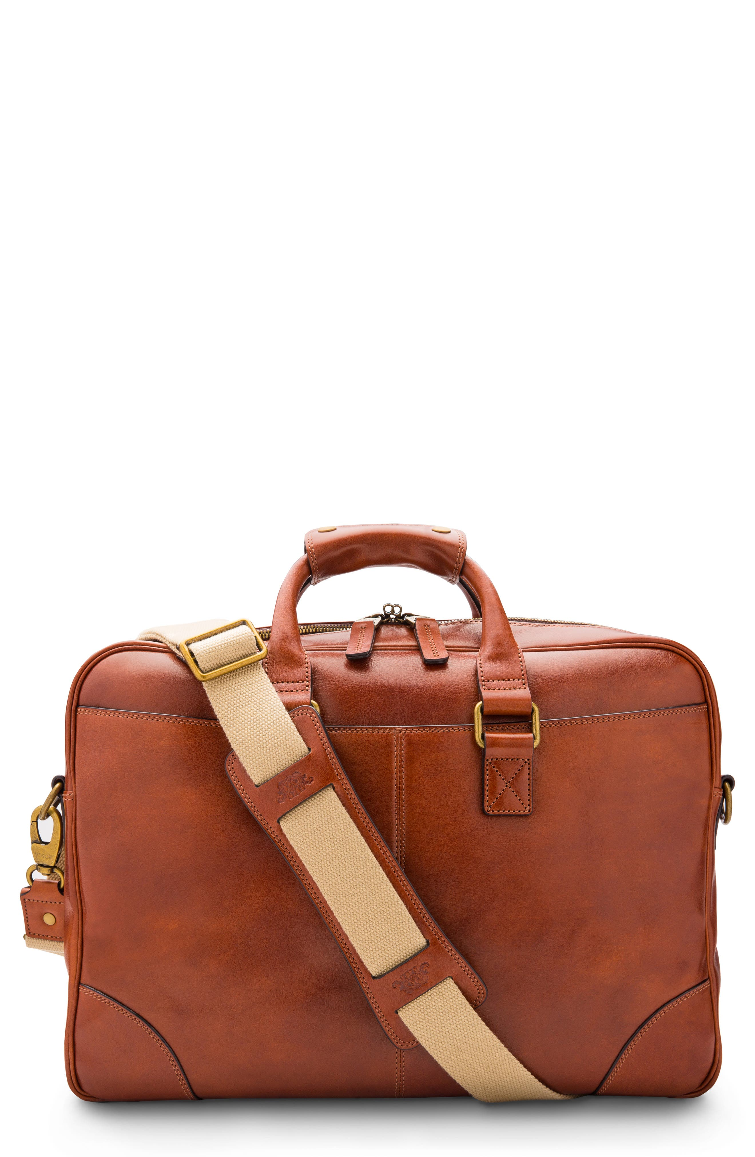 Spacious construction means easy organization in this well-made briefcase built from richly colored Italian leather. Style Name: Bosca Leather Double Gusset Briefcase. Style Number: 5981815. Available in stores.