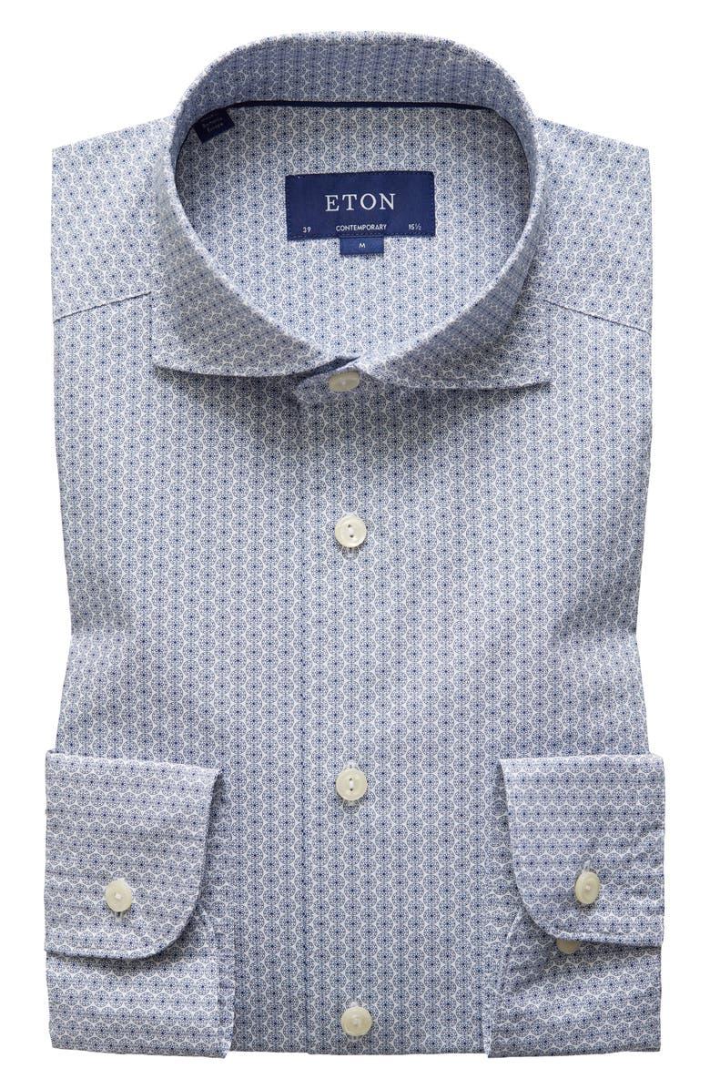 ETON Contemporary Fit Dress Shirt, Main, color, BLUE