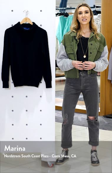 Doria Rib Cotton Blend Turtleneck Sweater, sales video thumbnail