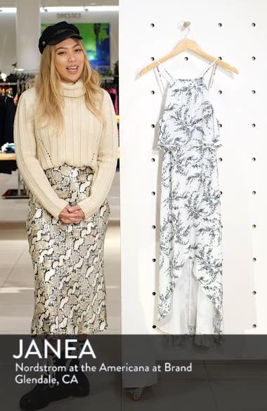 Stella Print High/Low Popover Dress, sales video thumbnail