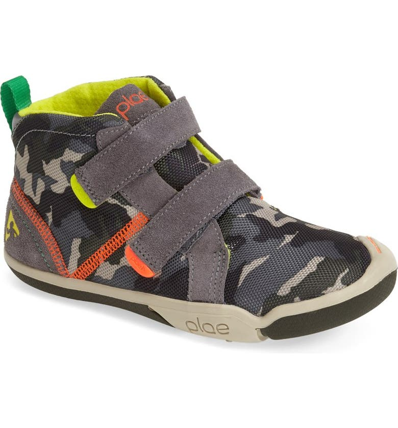 PLAE 'Max' Customizable High Top Sneaker, Main, color, STEEL/ CAMO