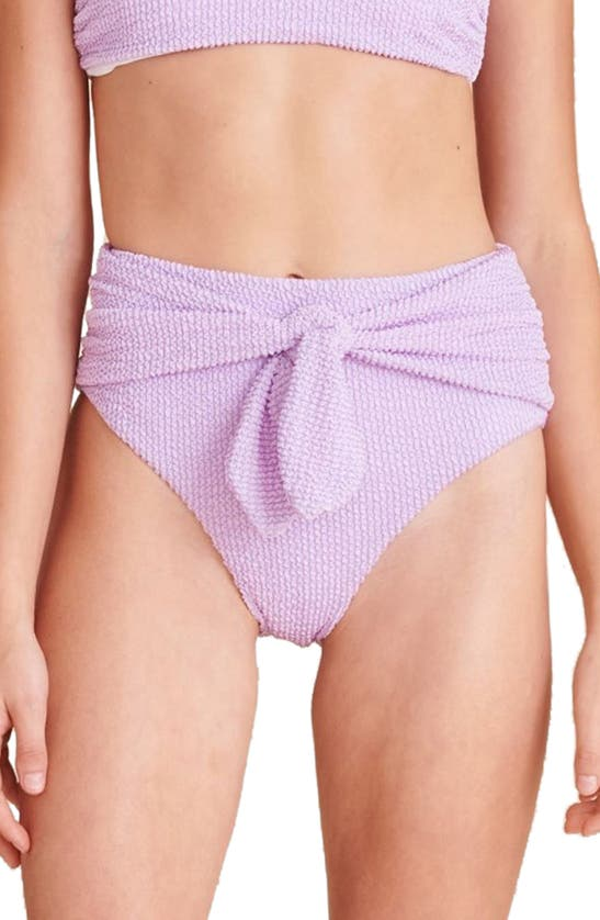 Veronica Beard Azoia Tie Waist Bikini Bottoms In Lavender