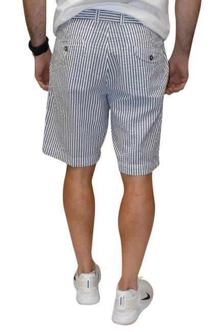 Image of Vintage 1946 Striped Seersucker Flat Front Shorts