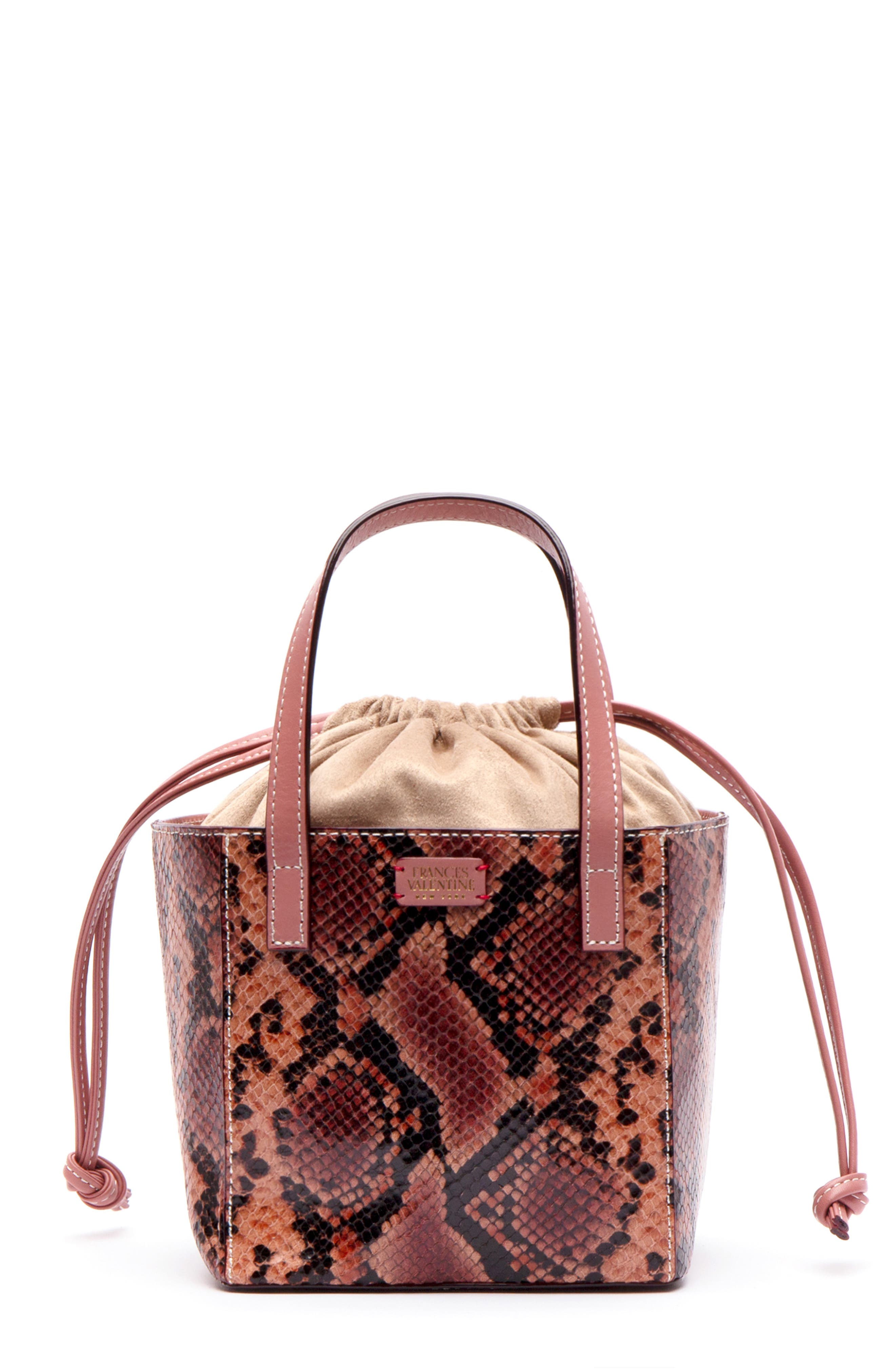 Moxy Snake Embossed Leather Tote