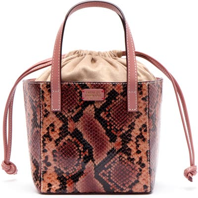Frances Valentine Moxy Snake Embossed Leather Tote - Pink