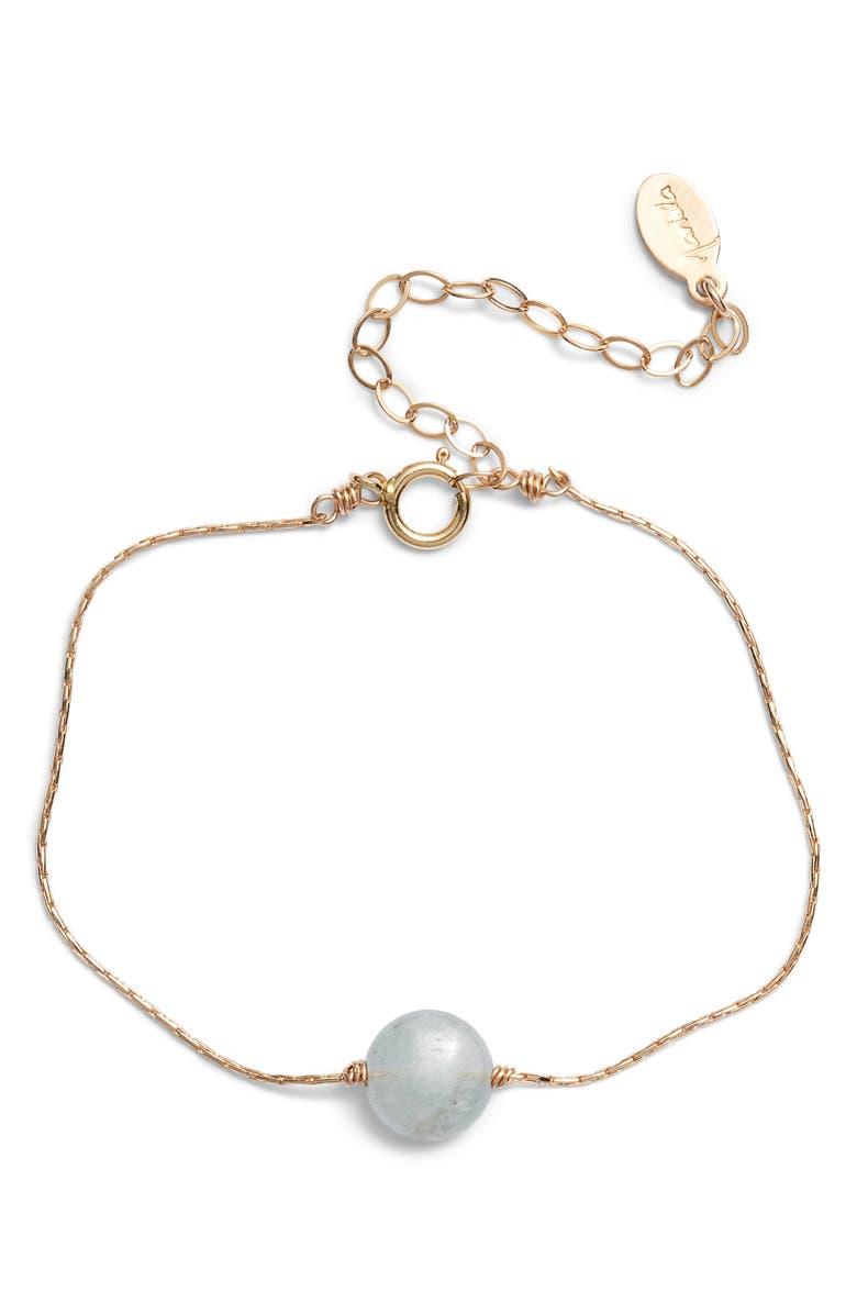 MARIDA Itty Bitty Bracelet, Main, color, AQUAMARINE/ GOLD