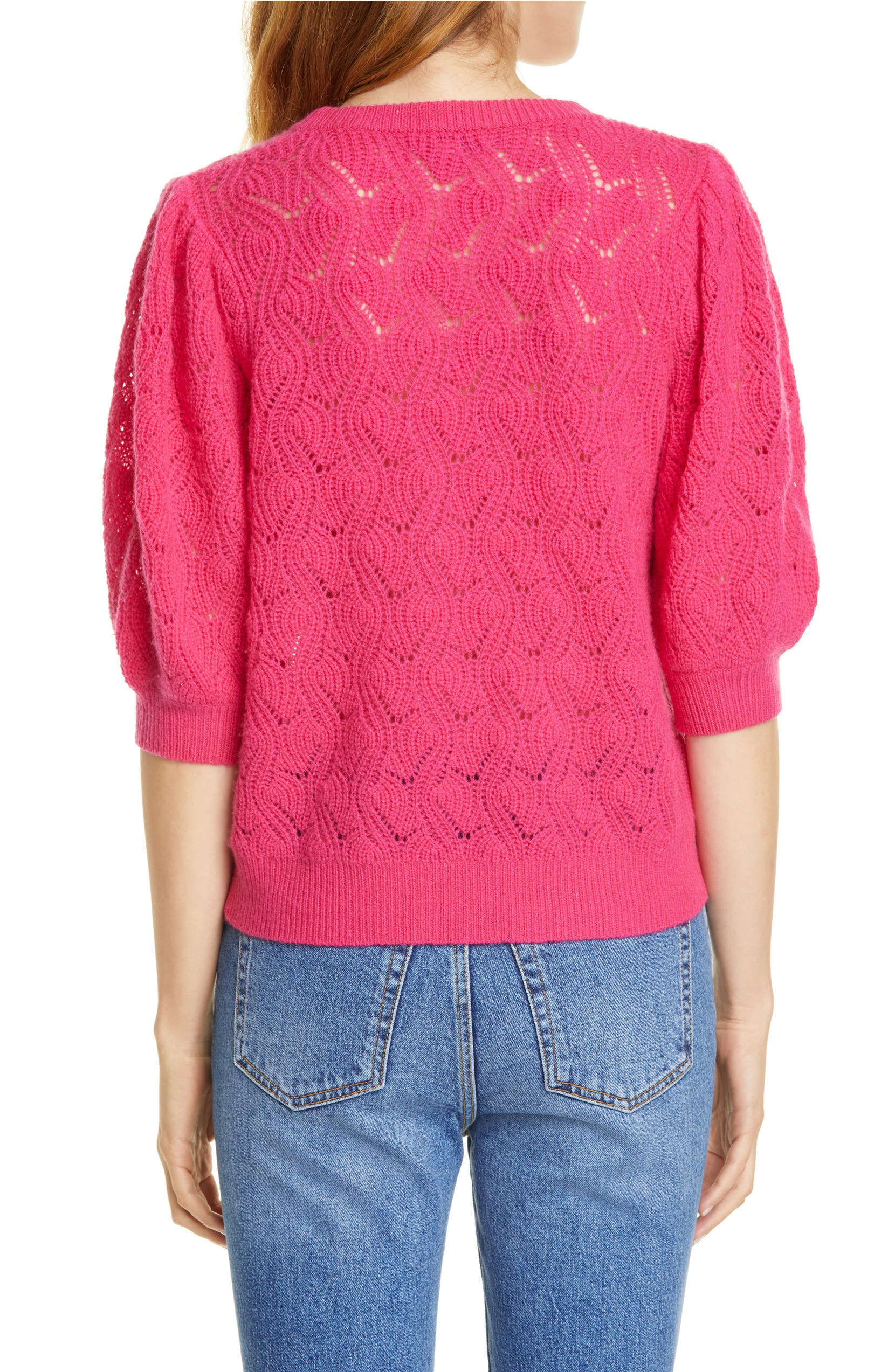 Joie Jenise Puff Sleeve Wool & Cashmere Sweater | Nordstrom