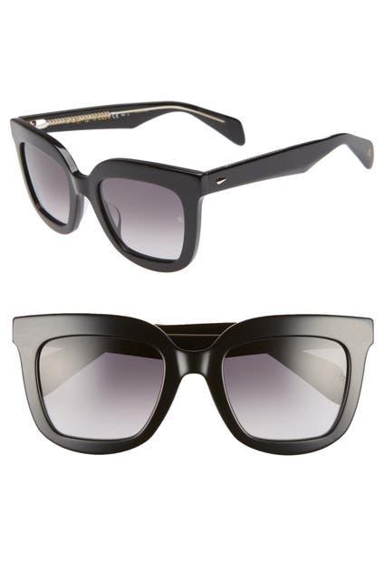 Image of Rag & Bone 52mm Square Sunglasses