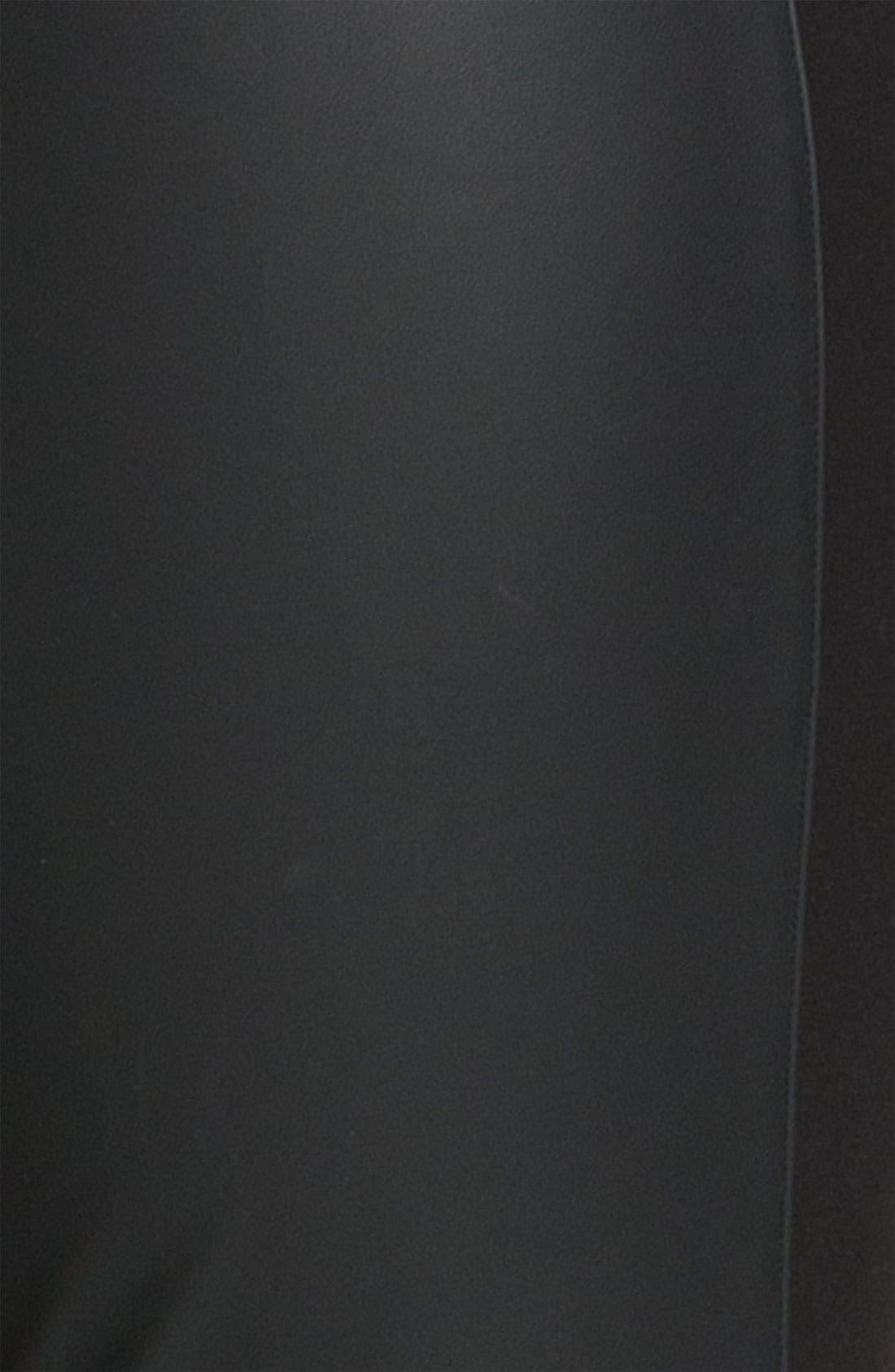 Faux Leather & Knit Leggings, Main, color, 001