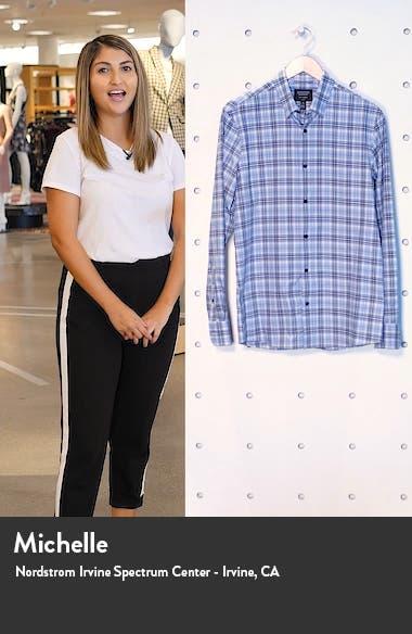 Nordstrom Tech-Smart Trim Fit Plaid Button-Up Shirt, sales video thumbnail
