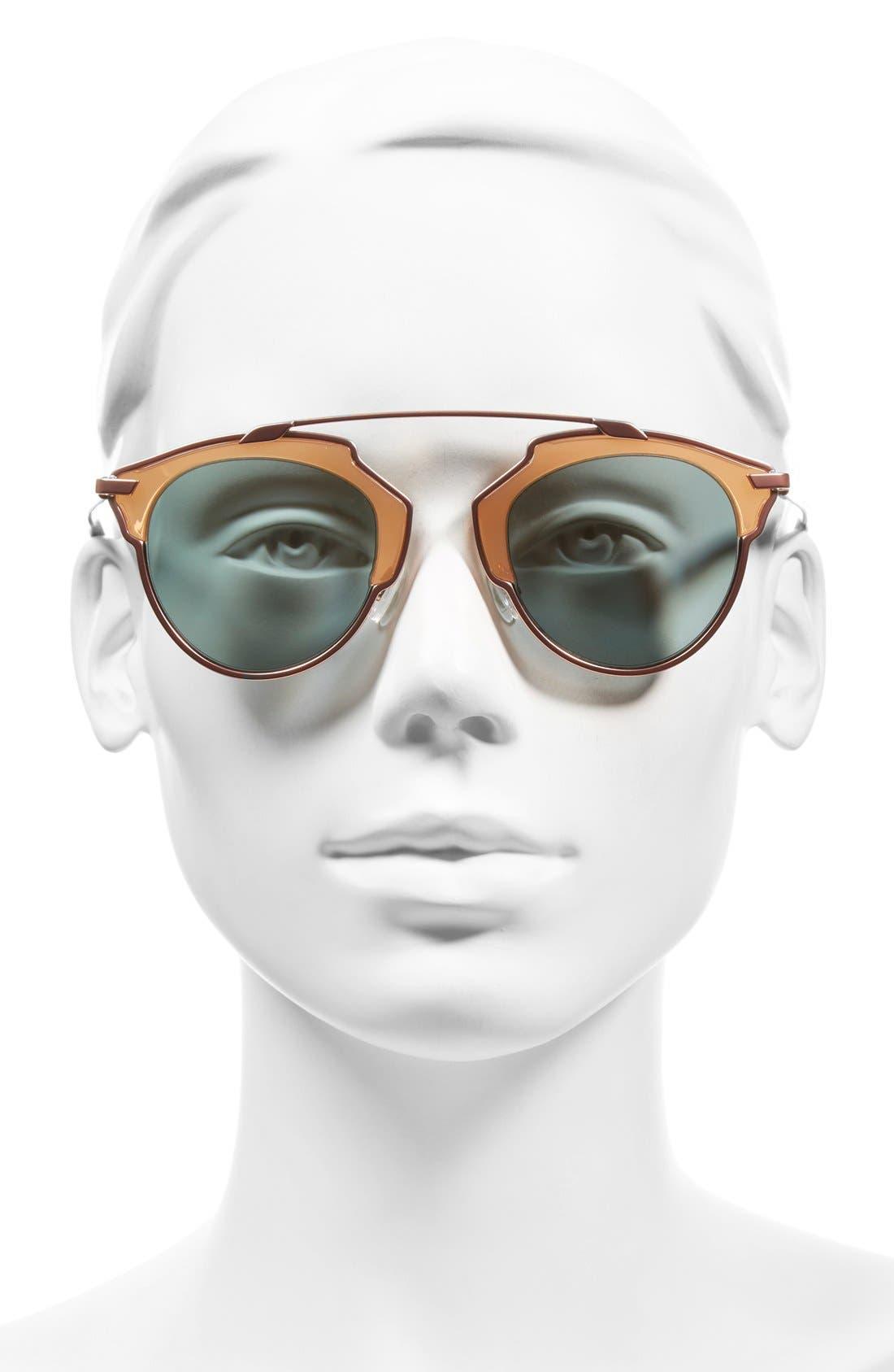 ,                             So Real 48mm Brow Bar Sunglasses,                             Alternate thumbnail 64, color,                             651