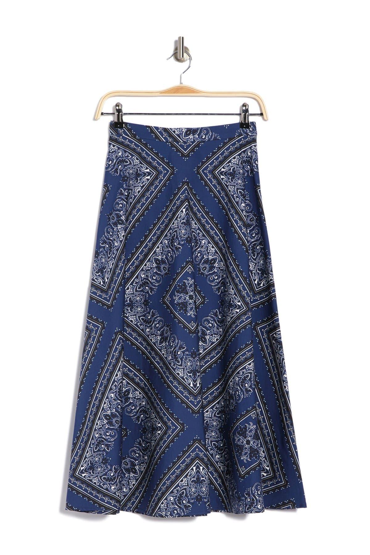 Image of RED Valentino Hankie Print Skirt