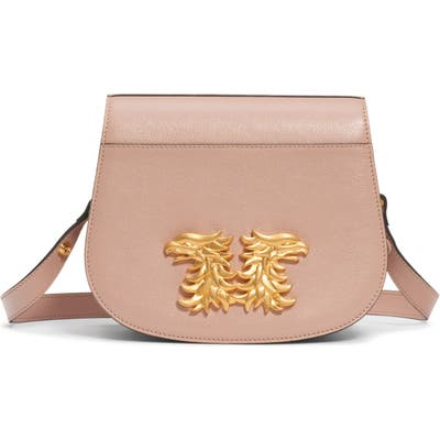 Valentino Garavani Maison Gryphon Leather Saddle Bag - Pink