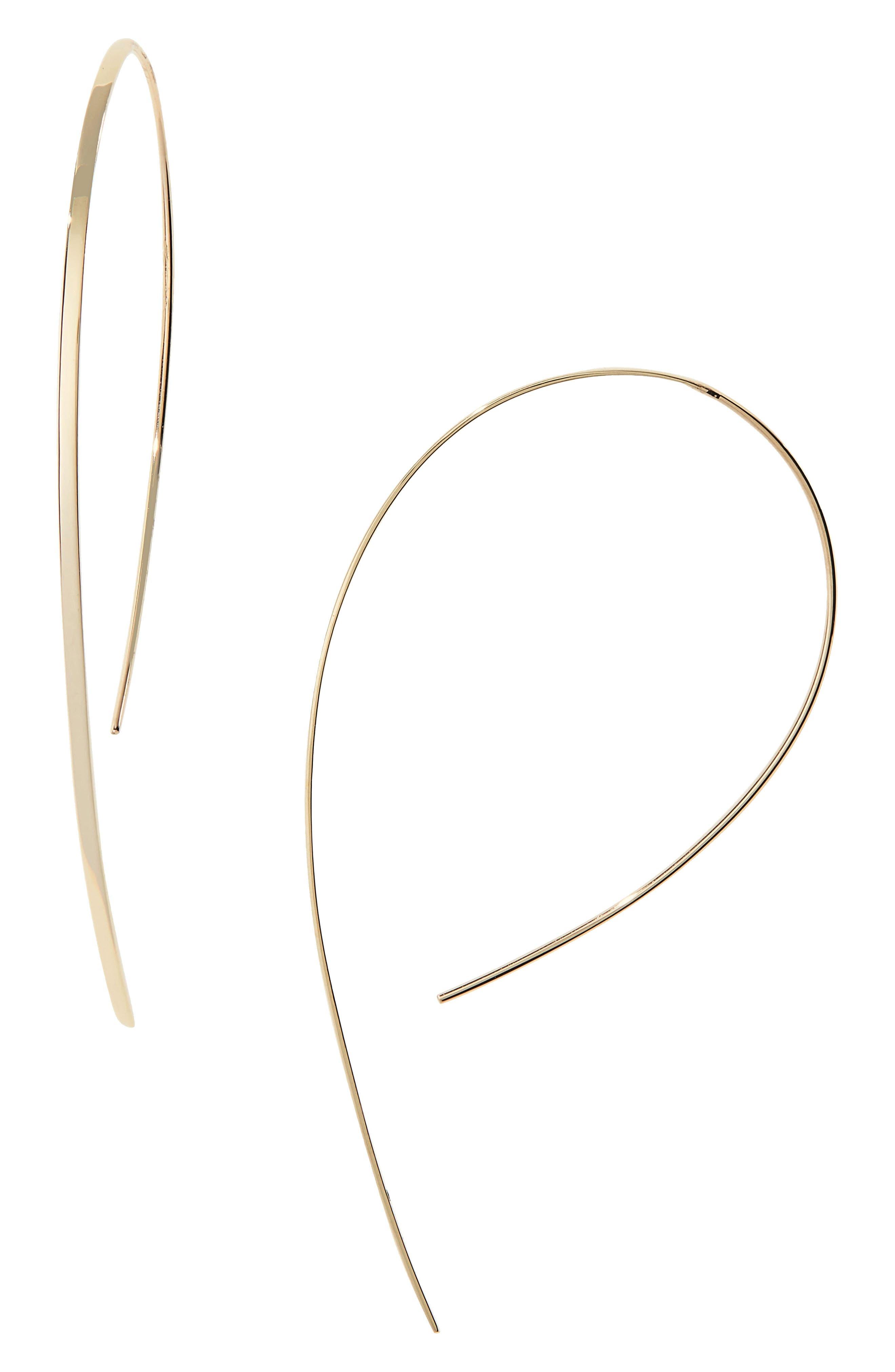 Small Vanity Hooked-On Hoop Earrings