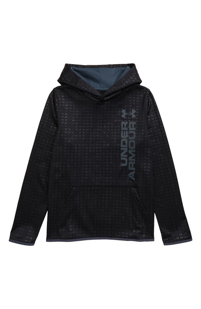 UNDER ARMOUR Armour Fleece Logo ColdGear<sup>®</sup> Hoodie, Main, color, 001