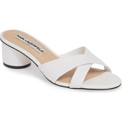 Karl Lagerfeld Paris Fawn Slide Sandal- White