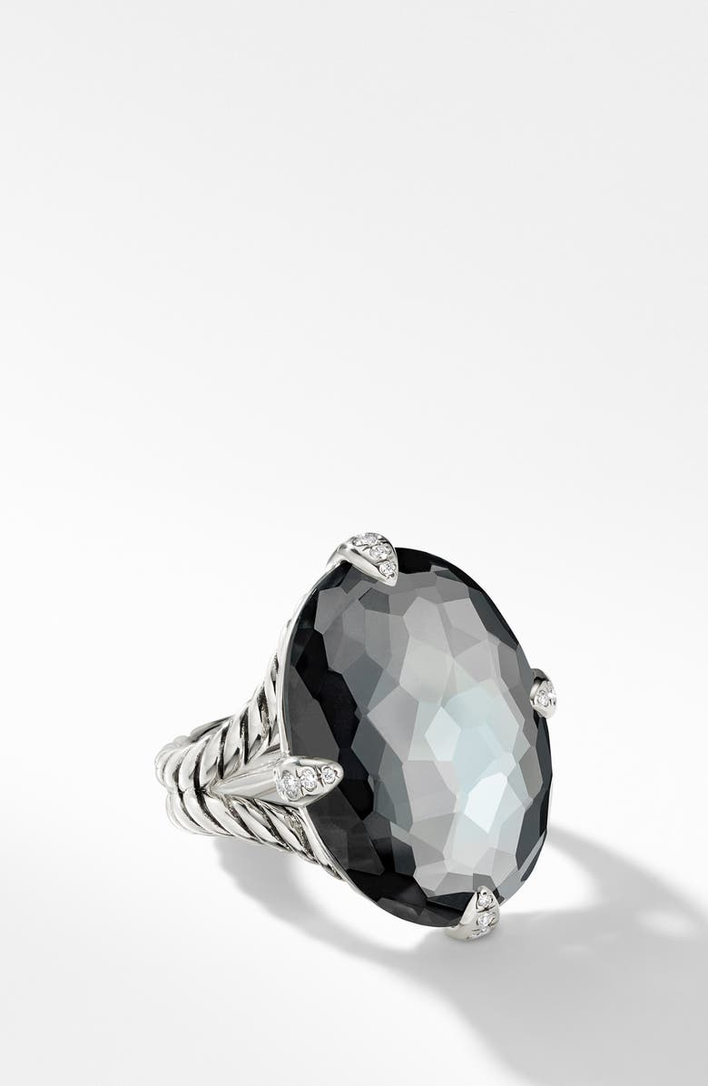 DAVID YURMAN Châtelaine<sup>®</sup> Statement Ring, Main, color, SILVER/ DIAMOND/ HEMATITE