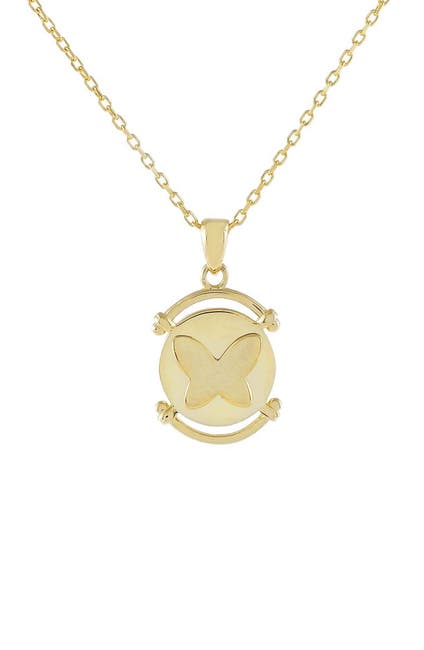 Image of Adina's Jewels Butterfly Coin Pendant Necklace