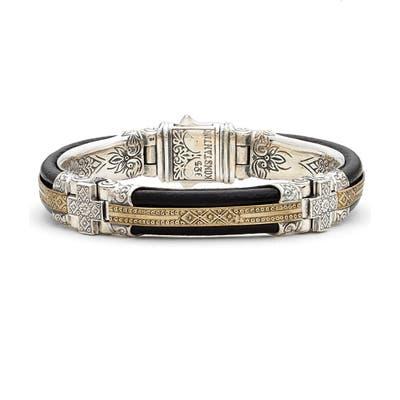 Konstantino Byzantium Etched Sterling Silver Bracelet