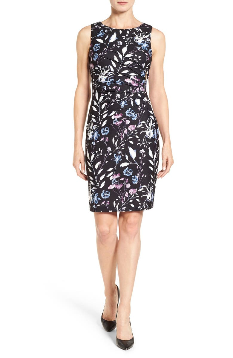 bbaebc32 Ivanka Trump 'Floral Starburst' Print Side Zip Sheath Dress | Nordstrom