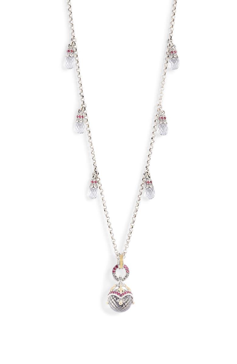 Konstantino Pythia Briolette Chain Pendant Necklace